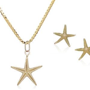 conjunto estrellas oro