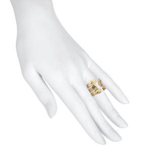 Anillo brazos chapado en oro maniqui